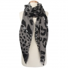 CS9241 Animal Print Oblong Scarf, Black